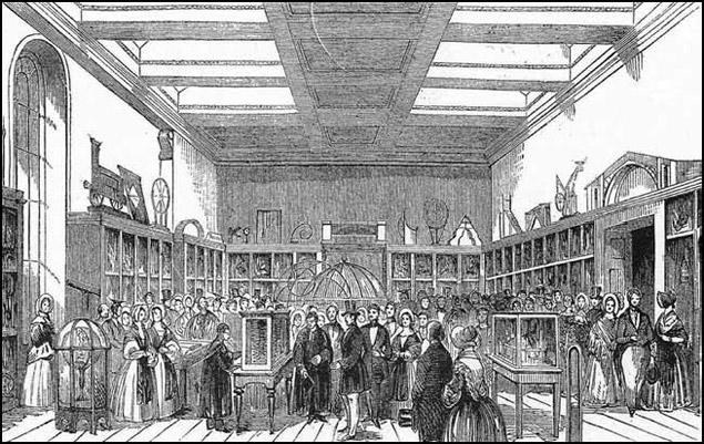 Máquina analítica de Babbage mostrada en el Museo King George III, 1844.