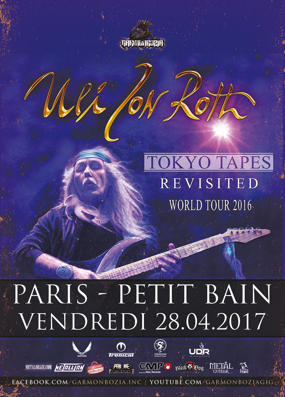 Uli Jon Roth à Paris