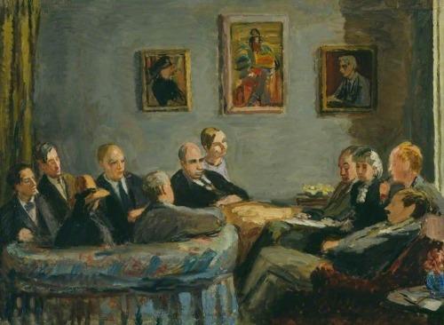 El Grupo de Bloomsbury, por Vanessa Bell, 1943